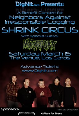 Benefit Concert for NAIL - Featuring Shrink Circus and MotorPunx